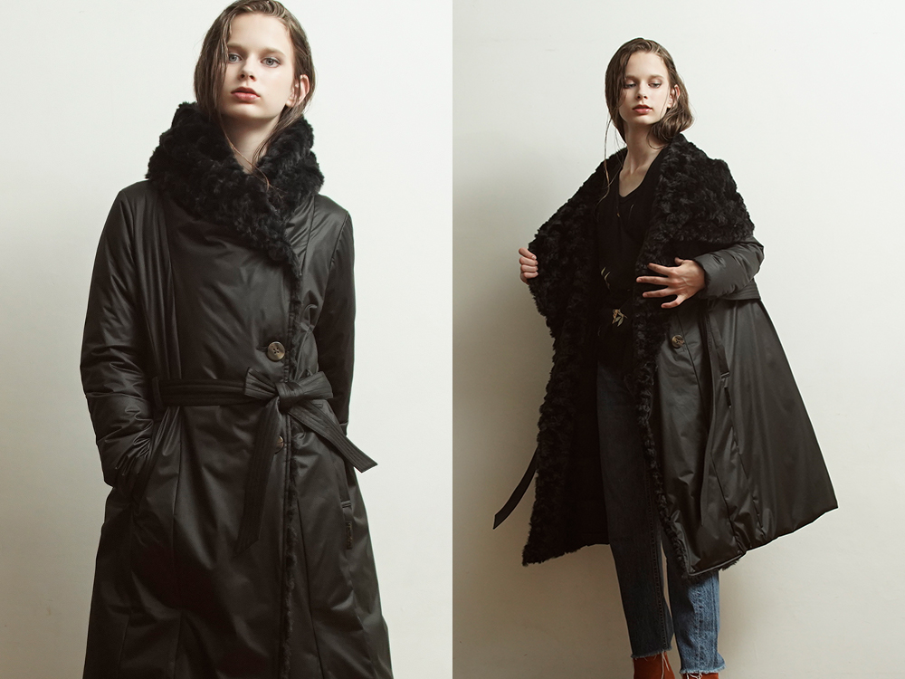 YO912015 2way Collar Long Coat