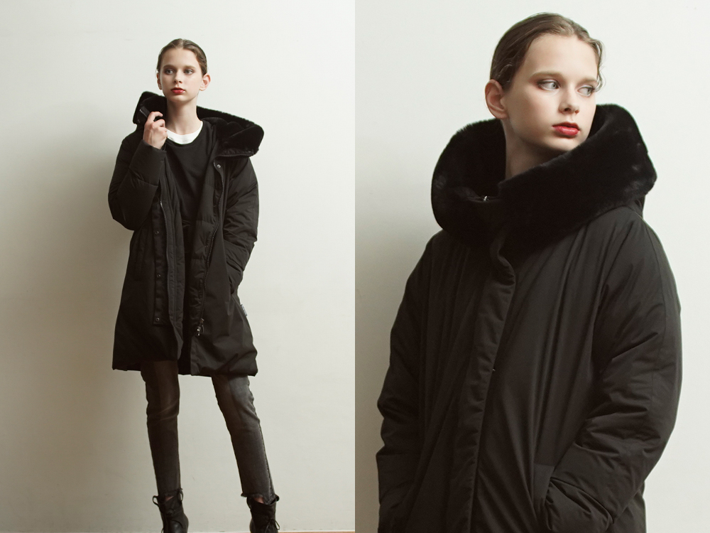 Yo912062 Eco Fur Big Hood Coat