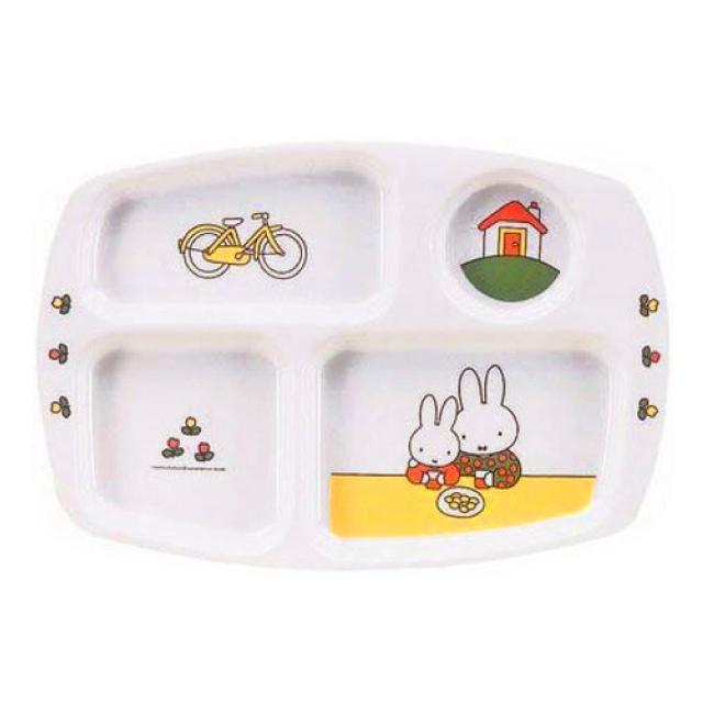 ミッフィー CM-20C 角ランチ皿 メラミンお子様食器 (RLVF001)