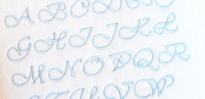 イニシャル刺繍イメージ