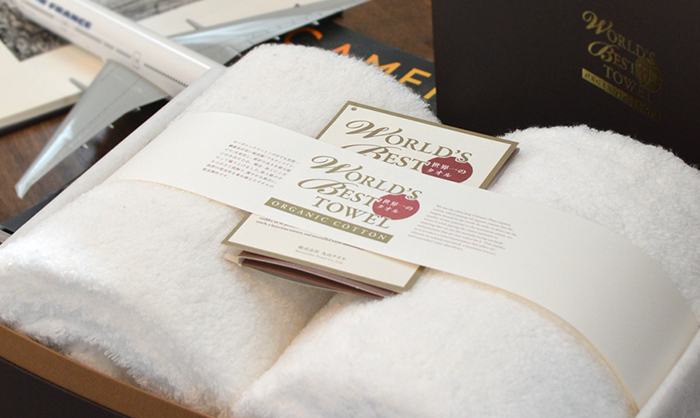 オーガニックコットンの今治タオル世界一のタオルのバスタオル&フェイスタオル各1枚ギフト