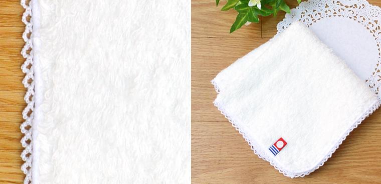 白いタオルハンカチシリーズの雲ごこちタオル