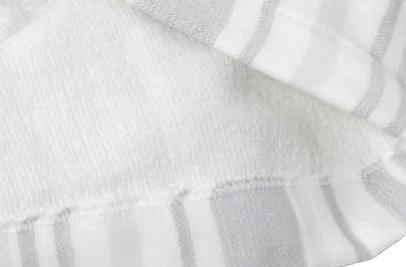 絹綿美人のガーゼバスローブの裏面パイルイメージ