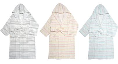 絹綿美人のガーゼバスローブカラーイメージ
