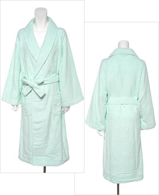 絹綿美人のホテルタイプ仕様のバスローブ前後イメージ
