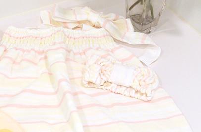 絹綿美人のガーゼバスドレスイメージ