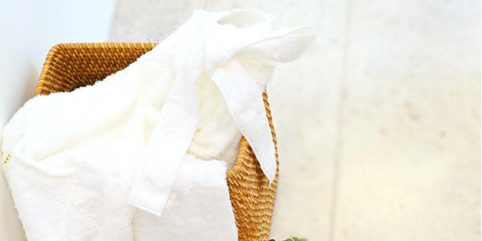 富岡産シルクアミノ酸を今治タオルに加工した絹綿美人のバスドレスのディテールへのこだわりイメージ