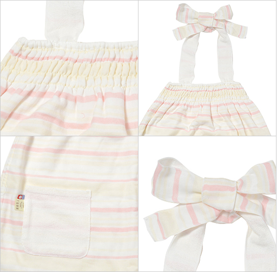 富岡産シルクアミノ酸を今治タオルに加工した絹綿美人のバスドレスの詳細イメージ