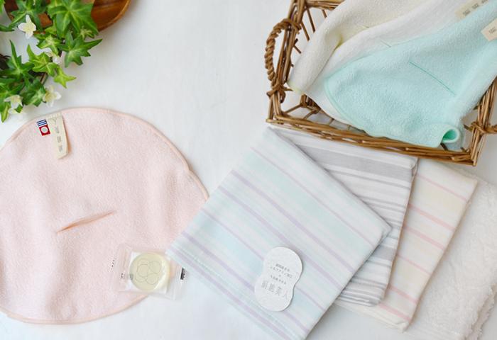 丸山タオル シルクアミノ酸たっぷりの絹でつくった石けんとシルクアミノ加工したタオル絹綿美人の送料無料のお試しセット