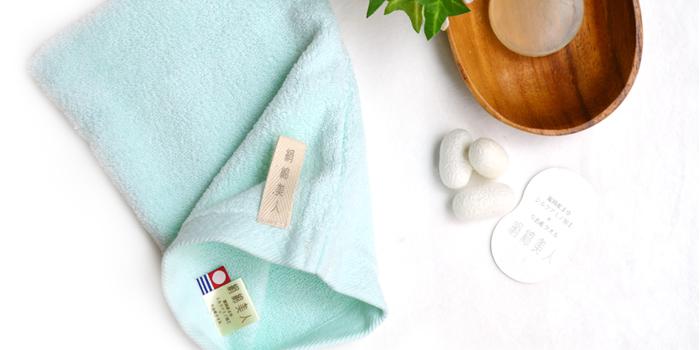 富岡産シルクアミノ酸を今治タオルに加工した絹綿美人のバスミトンの効果イメージ