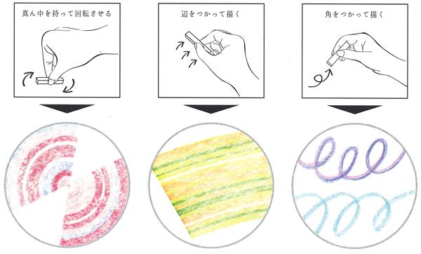 色で遊ぶクレヨンの使い方