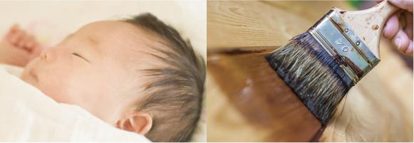 赤ちゃんと自然塗料