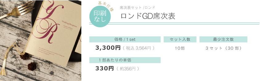 ロンドGD席次表 price