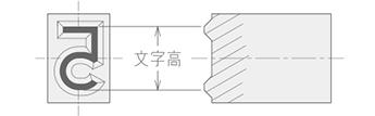 フラットフェイス(太ミ付)