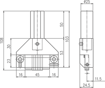 TSM-H型ホルダー(手打用 大)(図面)