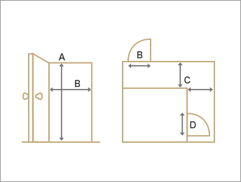 2.玄関からお部屋までの搬入経路の確認イメージ