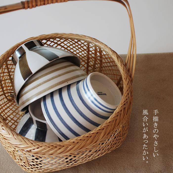 和山 くらわんか碗 ボーダー/十草