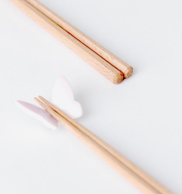 バタフライ 箸&箸置き 夫婦セット