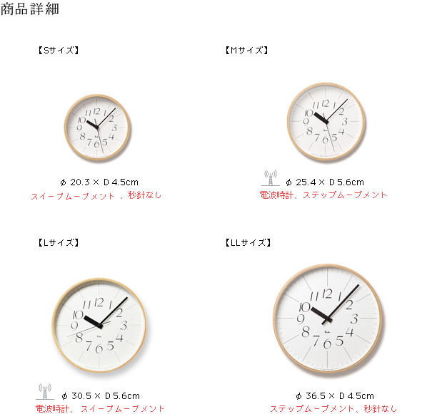 RIKI CLOCK 細字