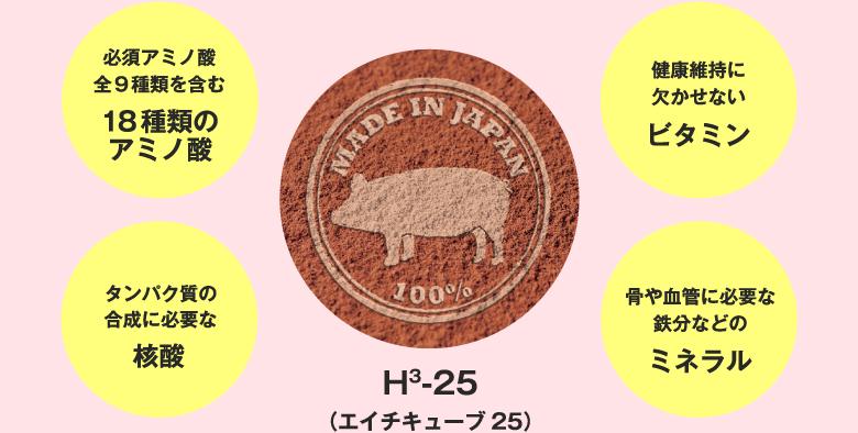 エイチキューブ25 18種類のアミノ酸 核酸 ビタミン ミネラル