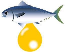 EPA抽出イメージ画像 青魚のイラスト