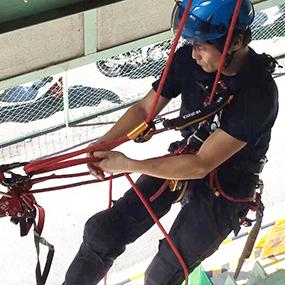 アルゴプレスト ロープアクセス トレーニング ジム レスキュー講習 ロープ高所特別教育 関西 大阪