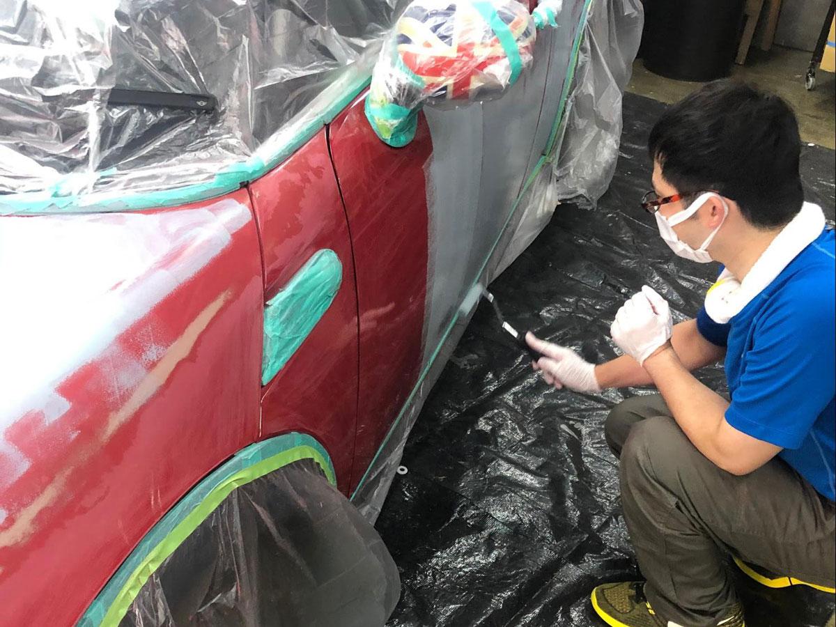 塗装スタート