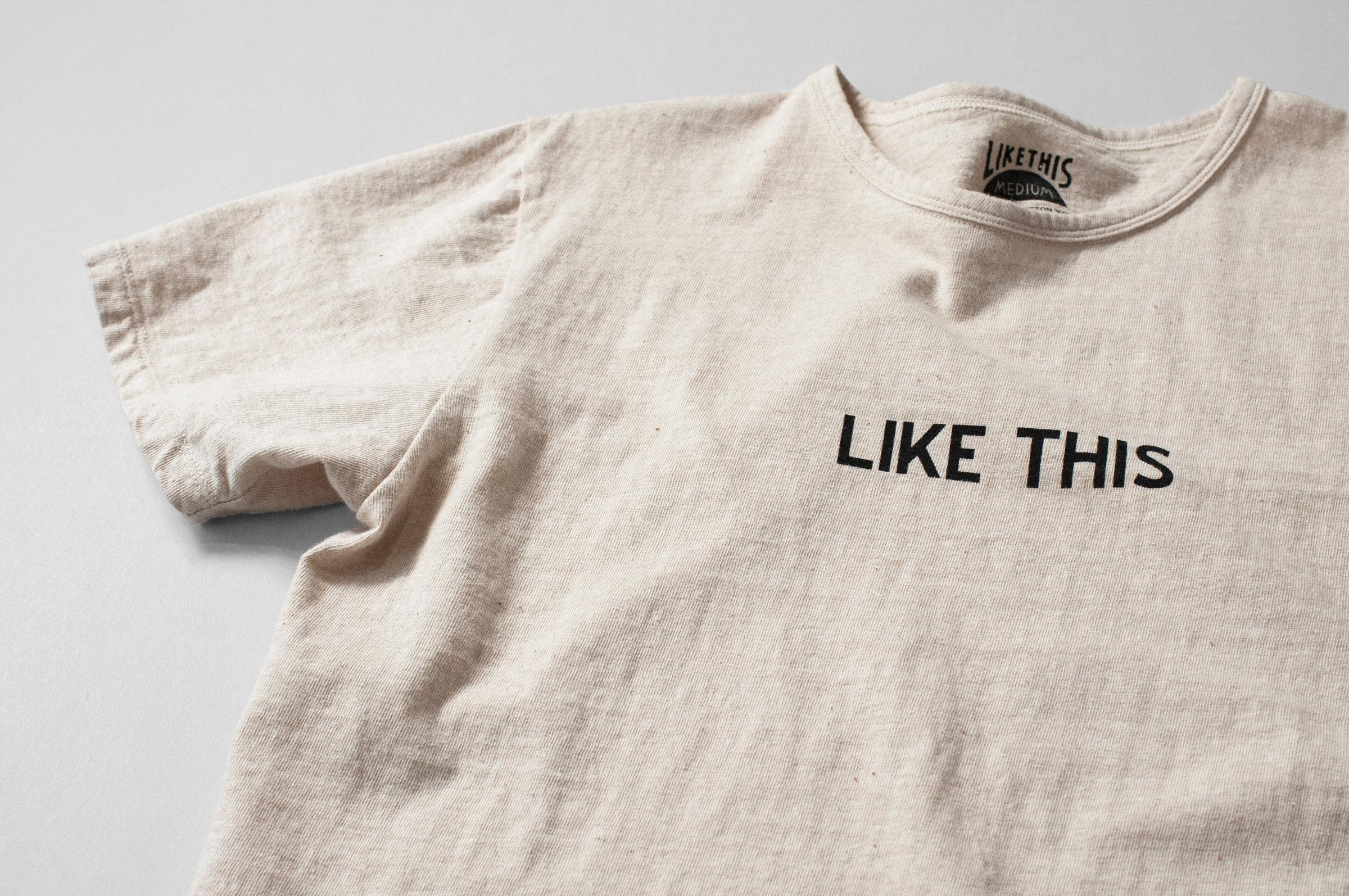 オーガニックコットン ロゴTシャツ