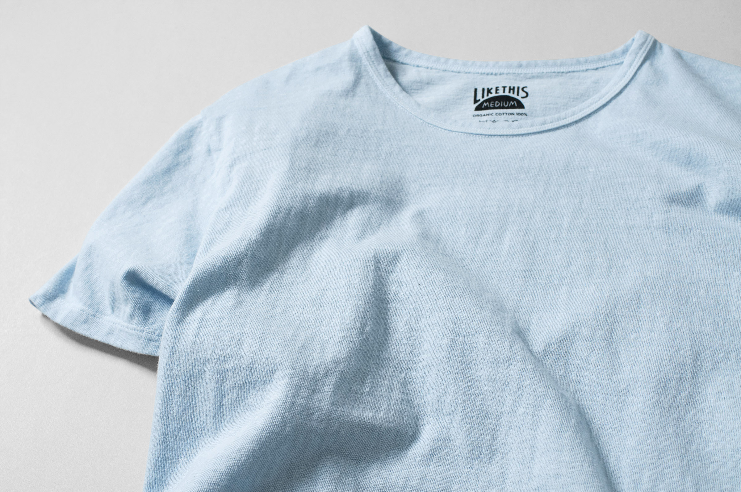 オーガニックコットン ボタニカルダイ クサギ染め Tシャツ