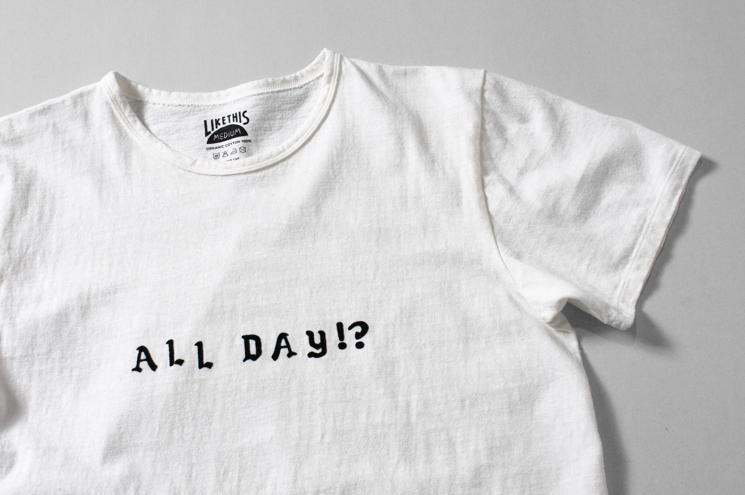 オーガニックコットン フロッキープリント Tシャツ