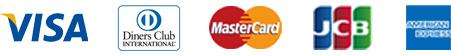 VISA/DinersClub/MasterCard/JCB/AMERICAN EXPRESS