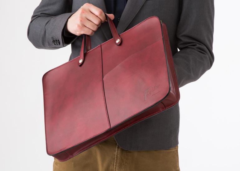 Foglia(フォーリア)ヌメ革A4ビジネスバッグ
