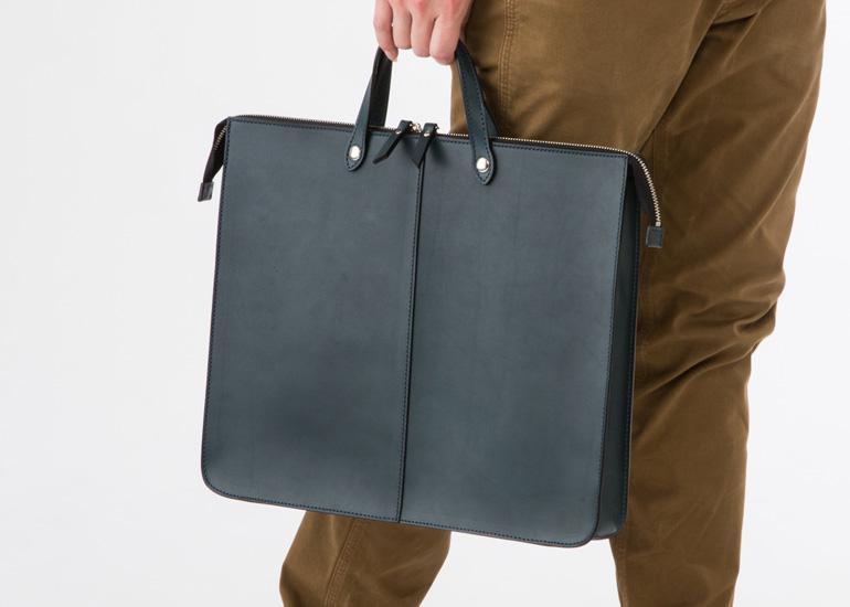 Fogliaヌメ革B4ビジネスバッグ