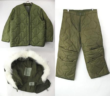 M65 ジャケット・パンツ用ライナー・フードなど装備品