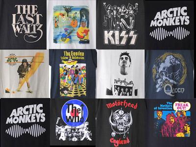 AC/DC、キッス、ザ・バンド、モーターヘッド、スコーピオンズ、ザ・フー他 バンドTシャツ