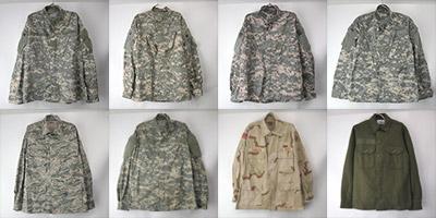 ACUカモなどミリタリーシャツジャケット