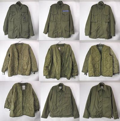 M65フィールドジャケット/ライナー/A-2デッキジャケット