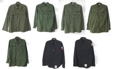 ユーティリティシャツとU.S.NAVYブラックシャツ
