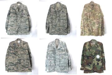 米軍カモフラージュ ユーティリティ BDU ACU シャツジャケット
