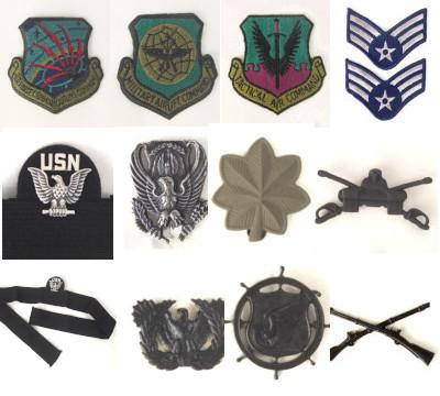 デッドストックのピンズ、ワッペンなど米軍インシグニア