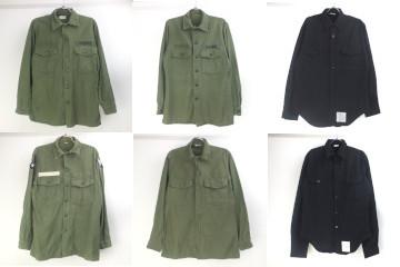米軍コットンサテンユーティリティシャツ、USNブラックシャツ