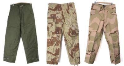 米軍デッドストックのECWCSパンツ、チョコチップMS、USNデッキパンツS/M