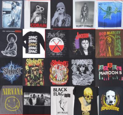 カートコバーン、U2、スリップノット、ノトーリアスBIG、他バンドTシャツ