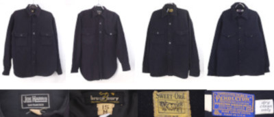 ヴィンテージのウールCPOシャツジャケット