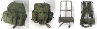 米軍 アリスパック、バッグ、フレーム