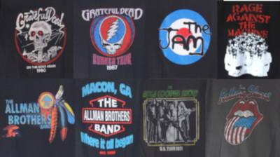 オフィシャルのバンドTシャツ