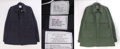 米軍ブラックBDU パンツ MS/LS シャツジャケット SL/MS オリーブドラブMXS