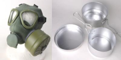 ユーゴ(セルビア)軍ガスマスク、チェコ軍メスキットセット