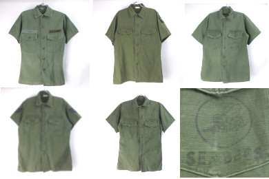 米軍 コットンサテン ユティリティシャツ(半袖)