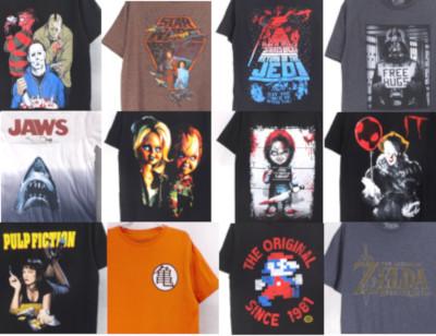 映画、ゲームなどのTシャツ